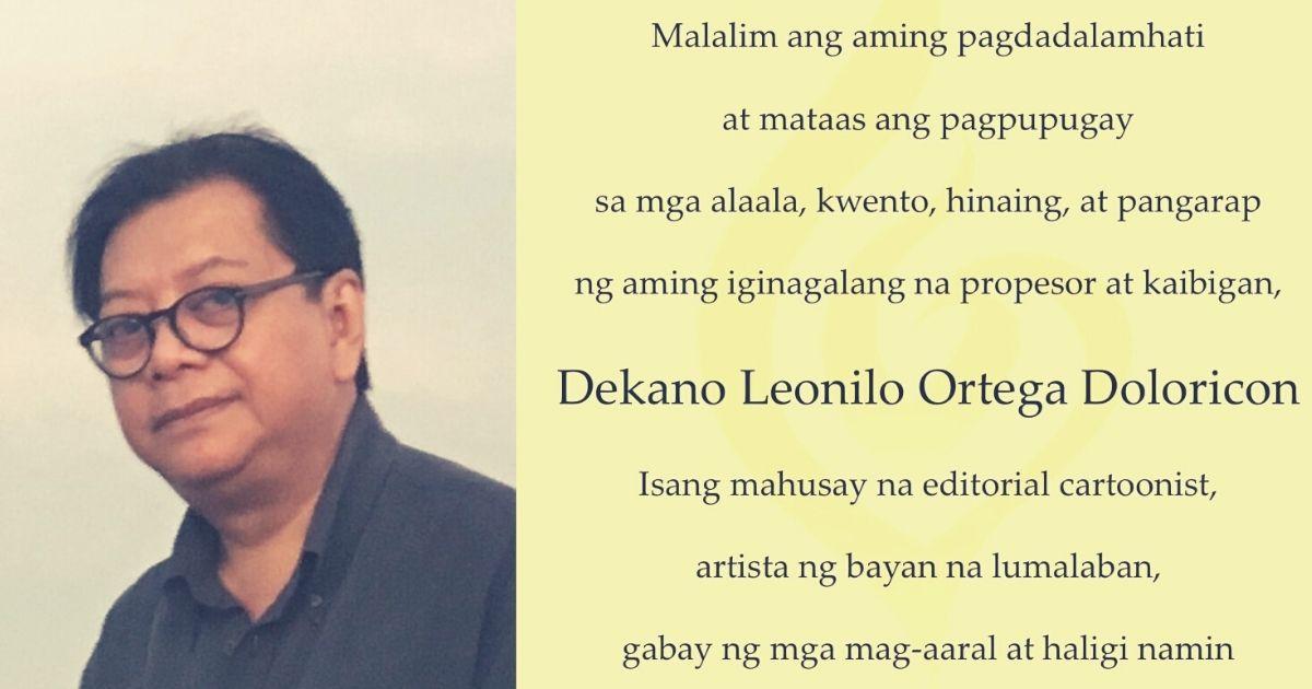 Remembering an Alumnus: Leonilo Doloricon, M.A. in Philippine Studies (1994)
