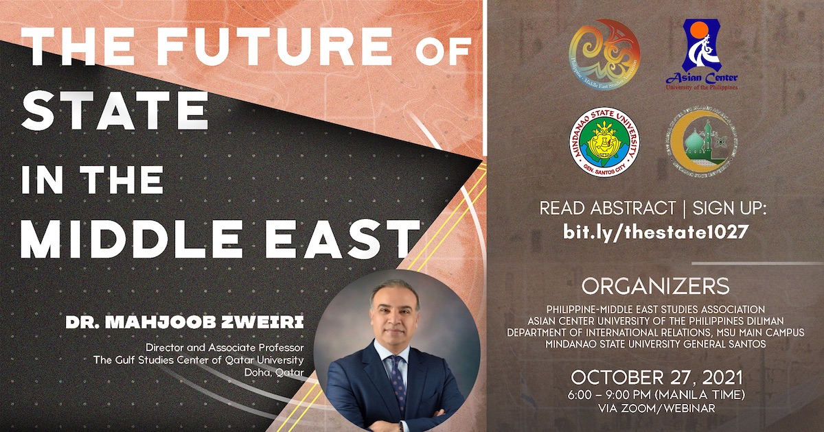 The Future of the State in the Middle East  |  A Webinar
