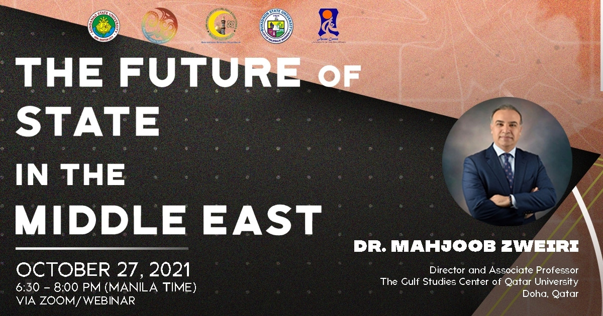 The Future of the State in the Middle East  |  A Webinar (27 Oct 2021)