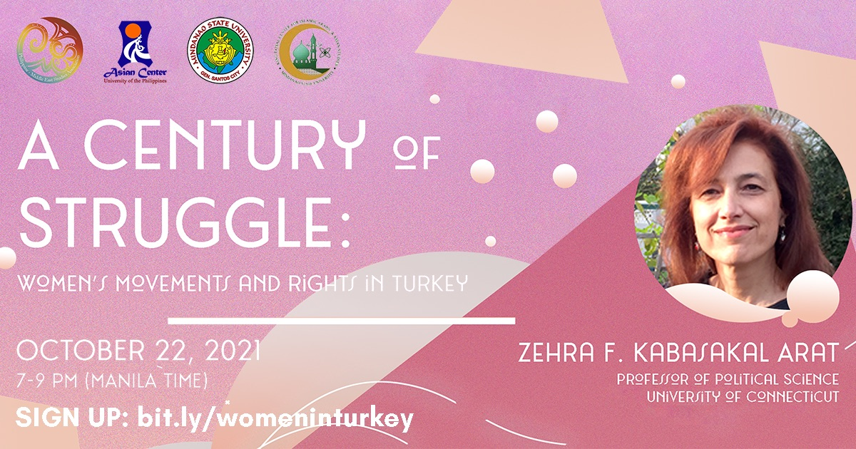 A Century of Struggle: Women's Movements and Rights in Turkey | A Webinar (22 Oct 2021)