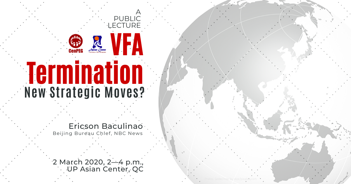 VFA Termination: New Strategic Moves? | A Public Lecture (2 Mar 2020)