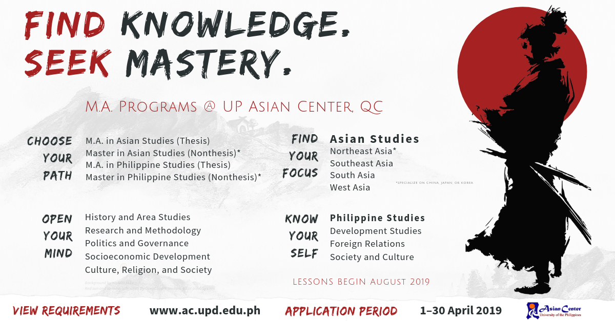 MA Programs: Asian Studies