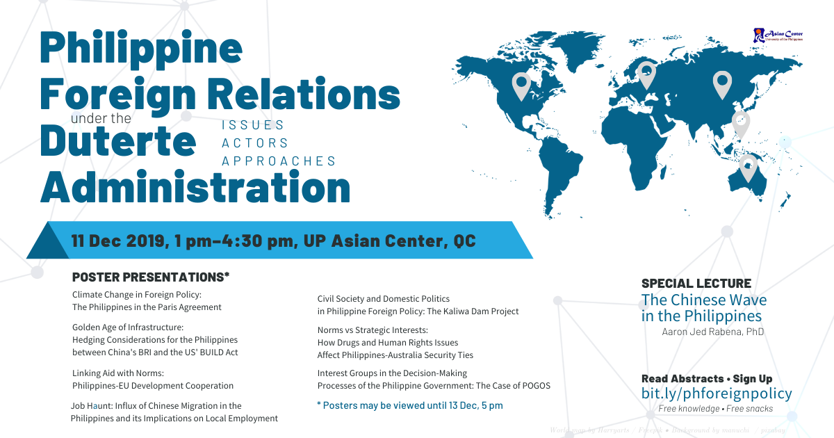 Philippine Foreign Relations under the Duterte Administration: A Forum-Exhibit (11 Dec)