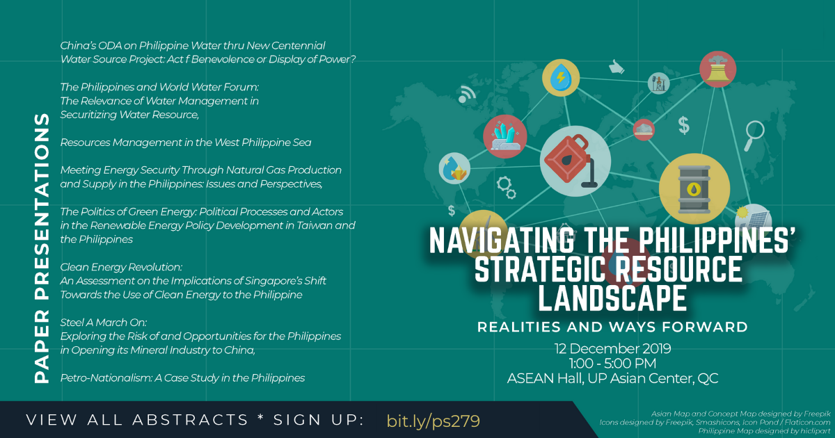 Navigating the Philippine Strategic Resource Landscape: | A Public Forum (12 Dec)