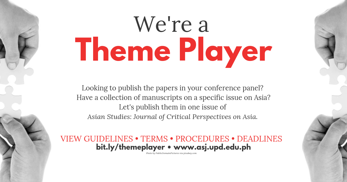 Call for Themed Issues: Asian Studies: Journal of Critical Perspectives on Asia