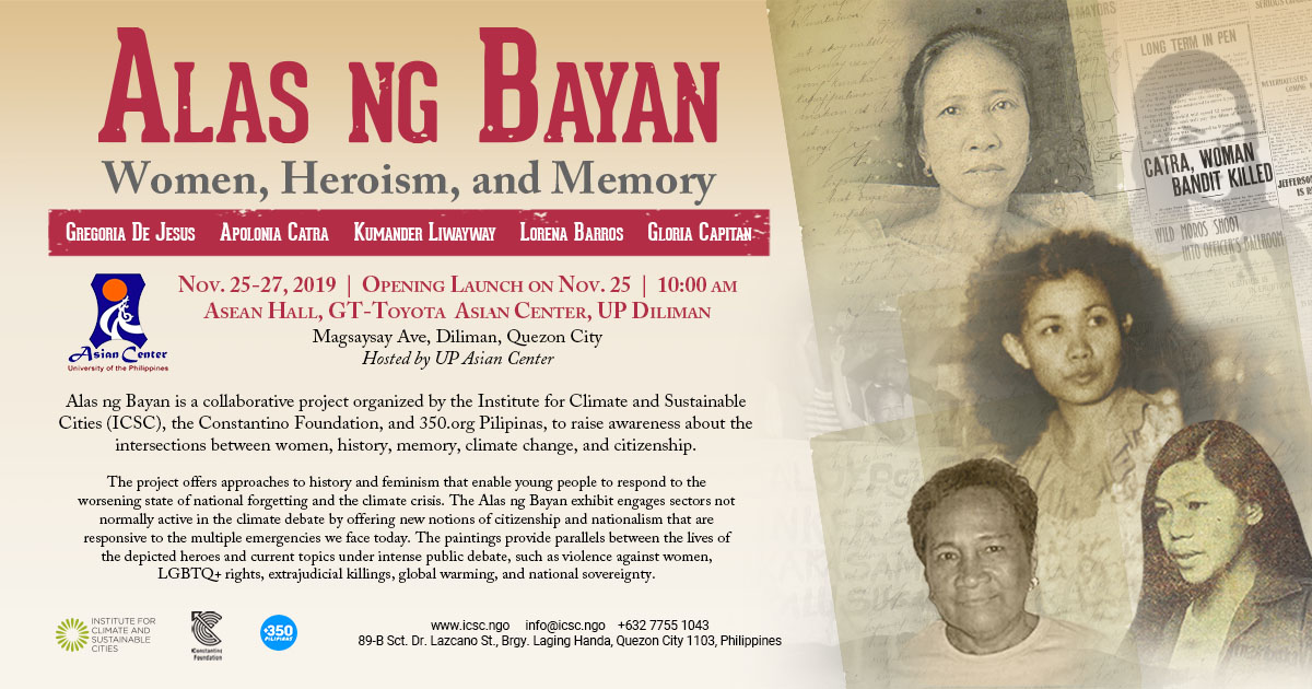 Alas ng Bayan: Women, Heroism and Memory | A Lecture-Exhibit