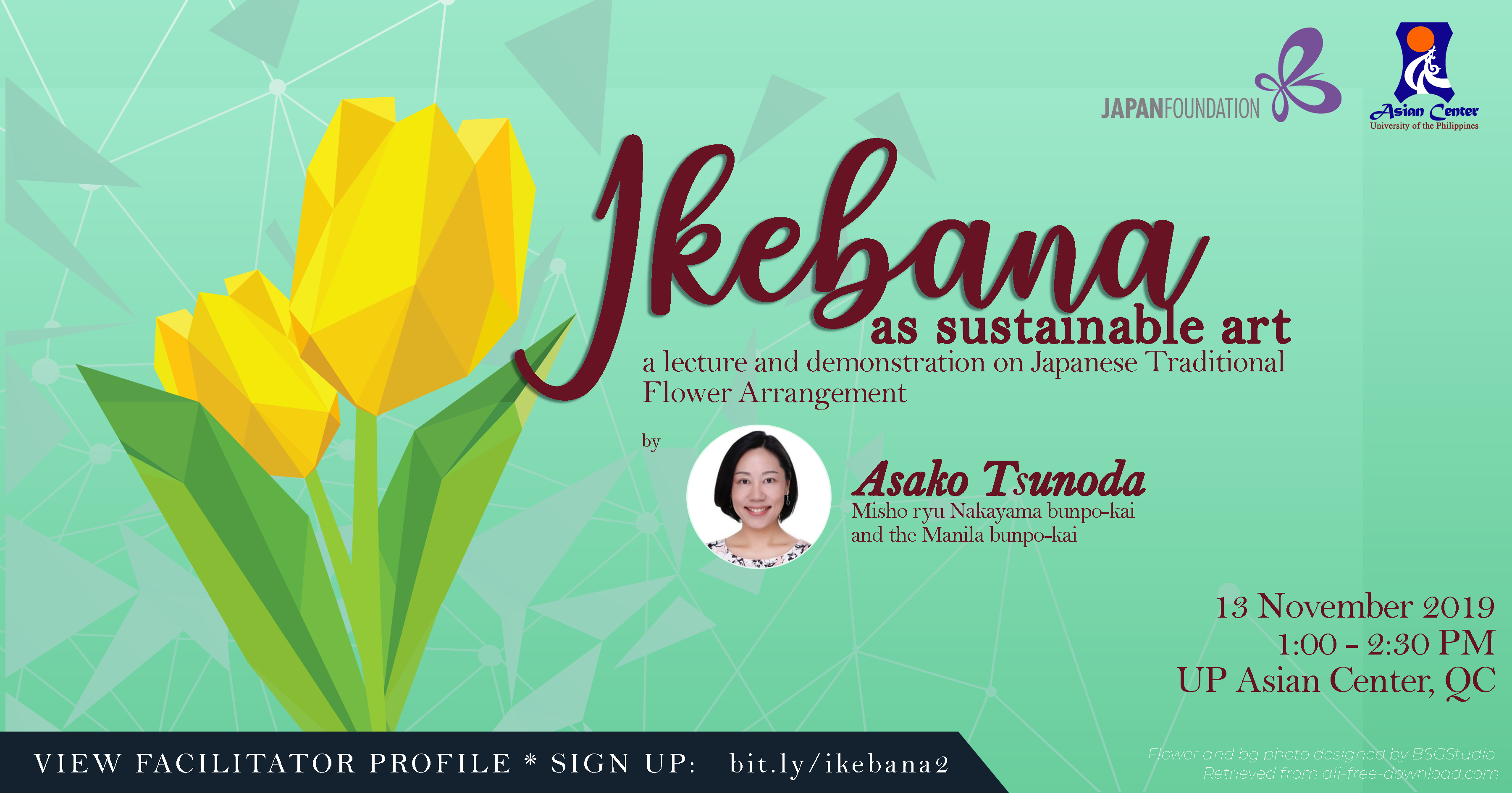 Ikebana as Sustainable Art: A Lecture-Demo on Japanese Traditional Flower Arrangement