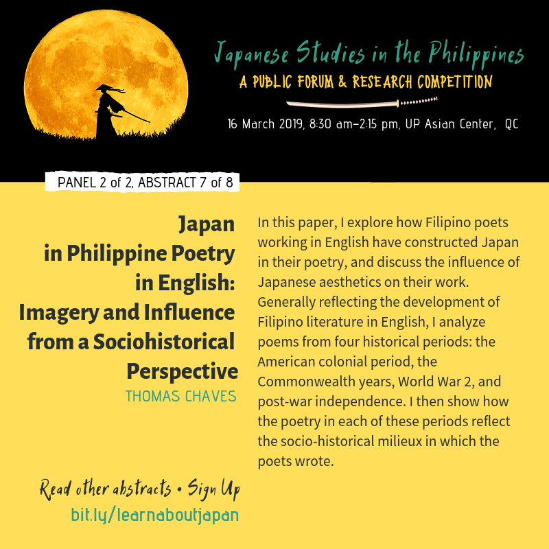 Japan Philippine Poetry English Chaves