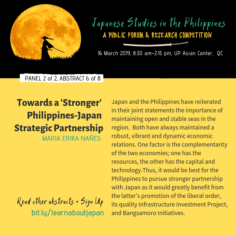 Stronger Japan Philippines Partnership Nanes