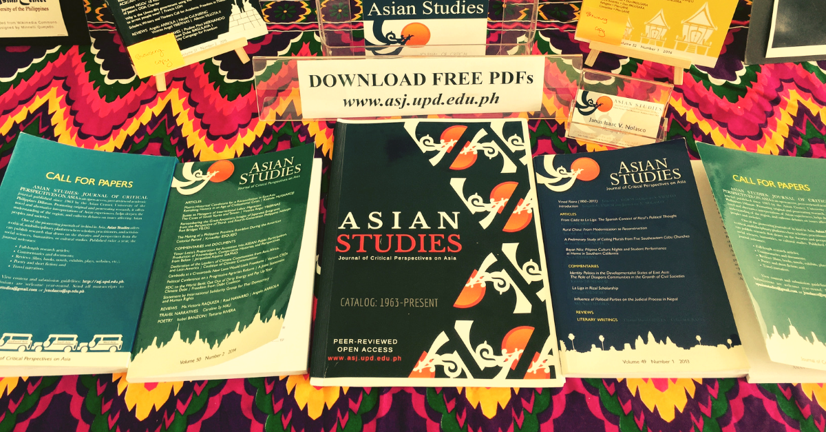 Asian Studies: Journal of Critical Perspectives on Asia