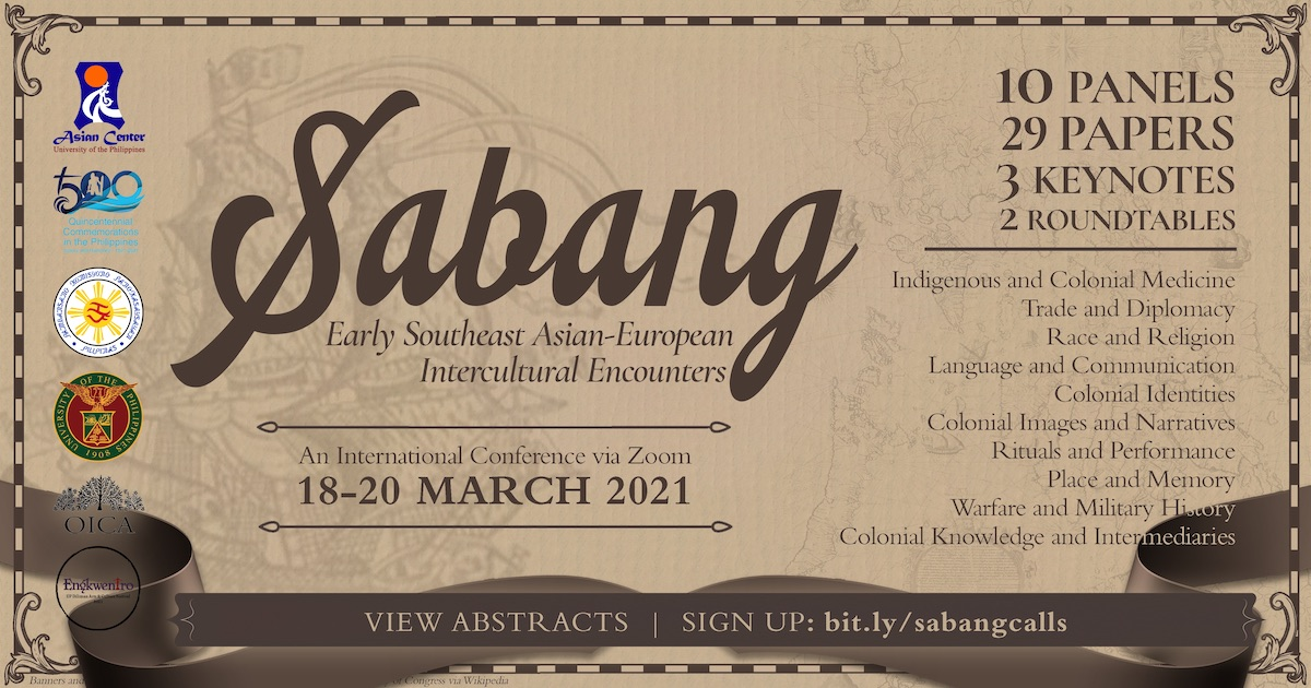 Sabang: Early Southeast Asian-European Encounters | An Online Conference (18–20 March)
