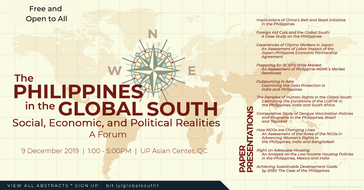 The Philippines in the Global South:  Social, Economic and Political Realities | A Forum