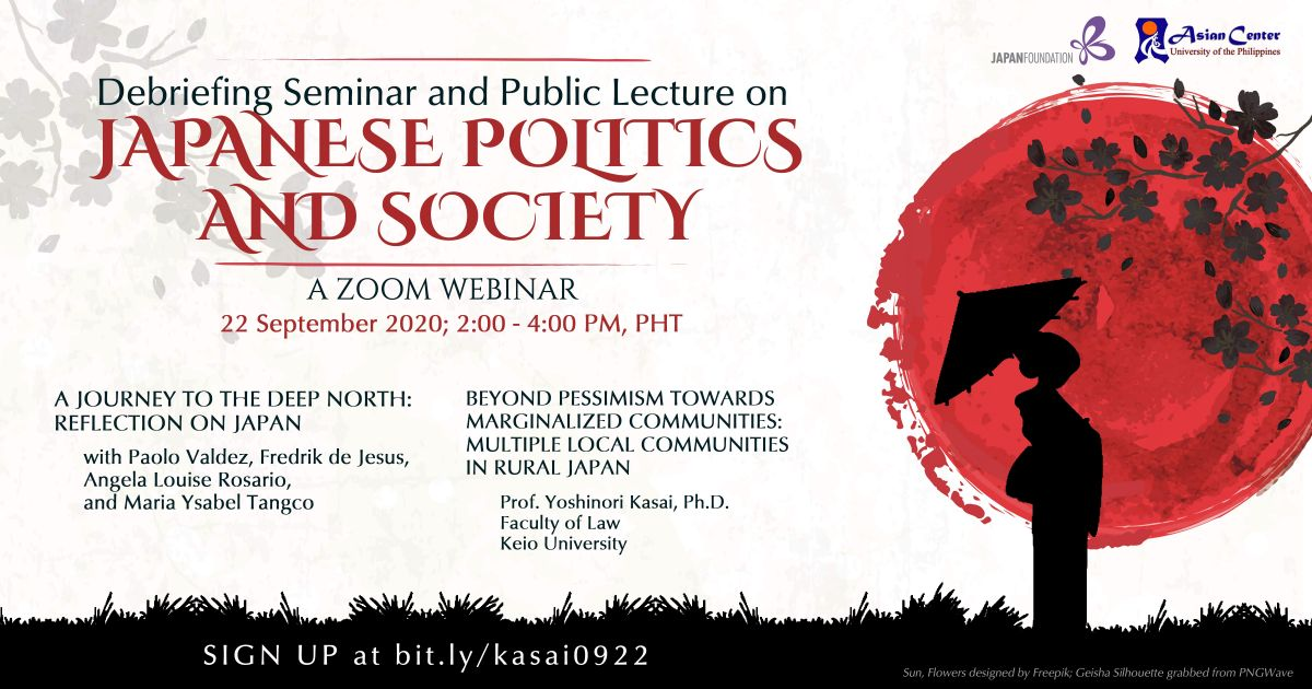 Debriefing Seminar and Special Lecture on Japanese Politics and Society | A Webinar (22 Sept 2020)