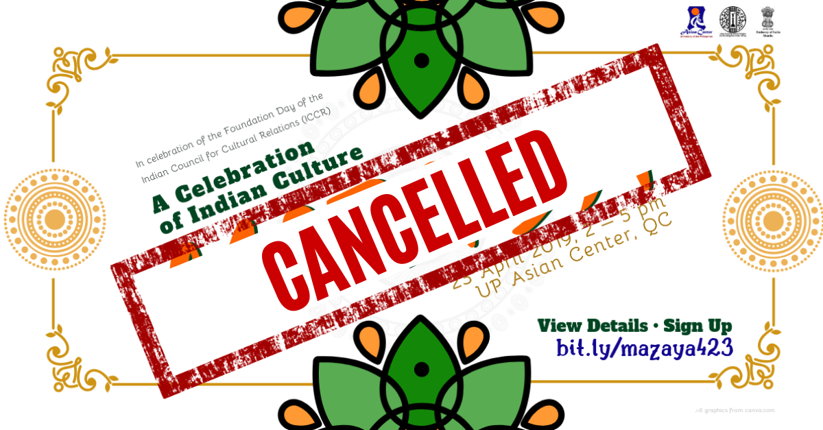[CANCELLED]Maza-ya: A Celebration of Indian Culture @ UP Asian Center, QC