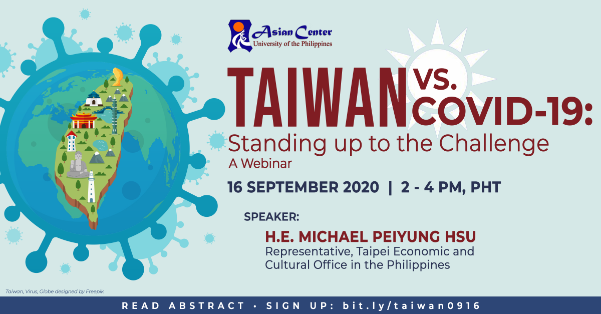Watch: Taiwan vs. COVID-19: Standing Up to the Challenge | A Webinar